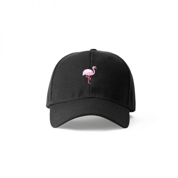 black flamingo hat