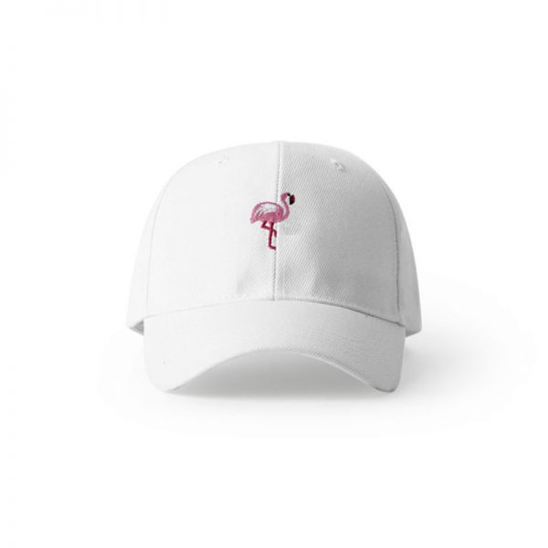 white flamingo hat